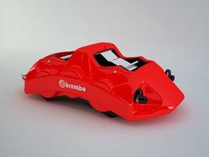 3D brembo caliper model