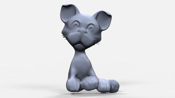 3D bas relief puppy
