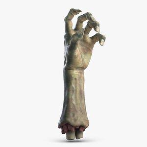 3D halloween zombie hand 1 model