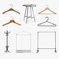 clothing racks hangers 3D