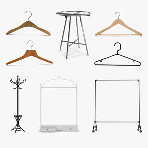 clothing racks hangers 3D