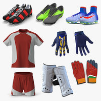 3D soccer uniform 2 model