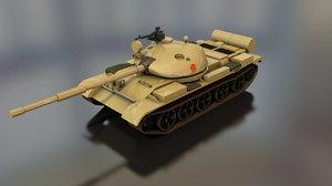 t-62 russian military tank 3D