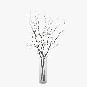 branches vase 3D model