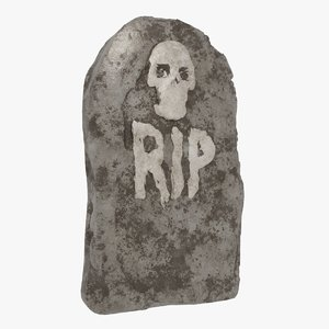 3D rip gravestone halloween