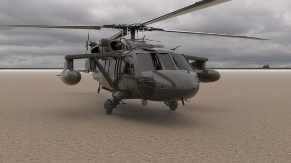 rigged helicopter model