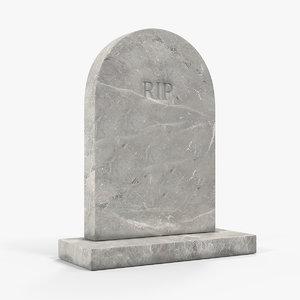 marble gravestone 3D model