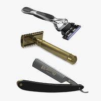 shaving razors 2 3D model