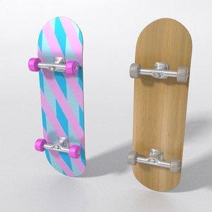 skateboard pattern 3D model