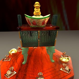 3D model chinese monkey yuanbao