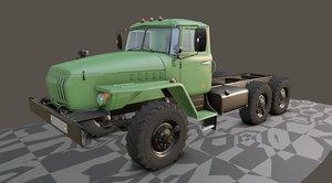3D model russian heavy truck