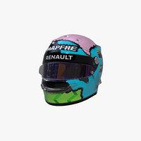 3D ricciardo 2019 helmet