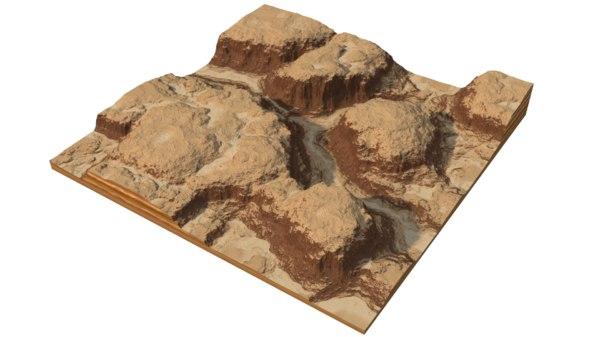 rocky canyon mountain 3D