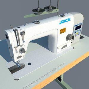 3D industrial sewing machine jack model