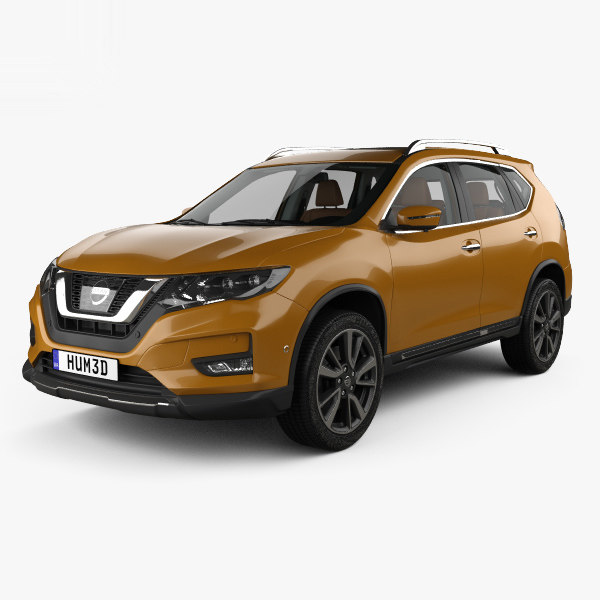 Interior Design Nissan X Trail: 3D Nissan X-trail 2017