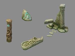 3D elf area - stele