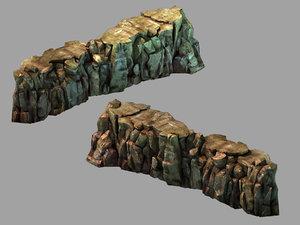 3D black light cave - model