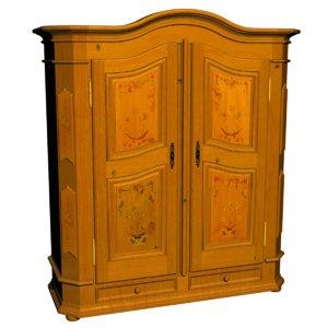 armoire bretonne 3D model