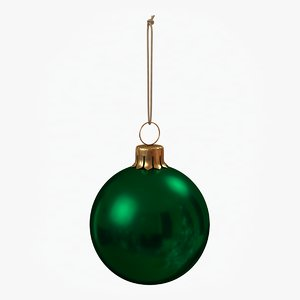 3D christmas ball green glossy model