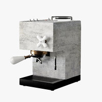 3D anza concrete espresso machines model