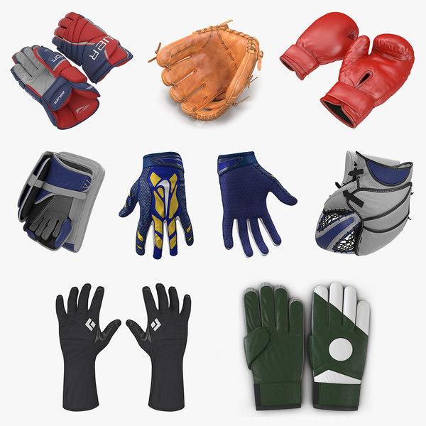 3D sport gloves 2 model