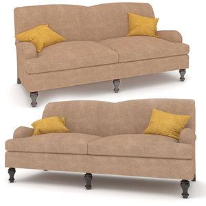 3D culver upholstered sofa