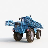 tractor sprayer 3D model