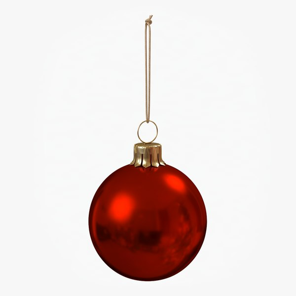 christmas ball red glossy 3D model