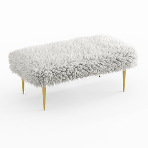 wool french faux fur 3D model