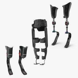 prosthetic legs 3D model