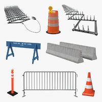 3D road barriers 4