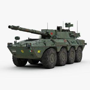3d model centauro tank destroyer vehicle
