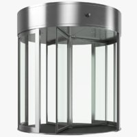 real revolving door 3D