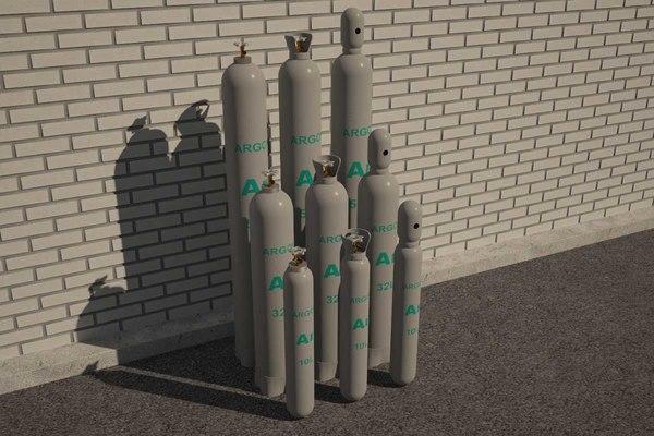 argon tank 3D model