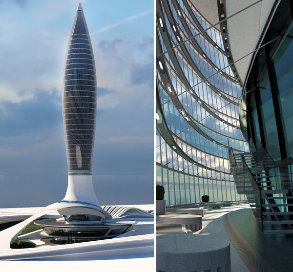 3D skyscraper structure