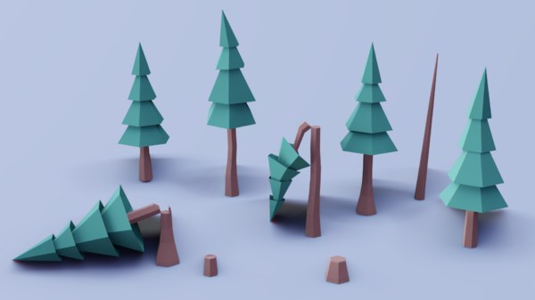 ready pine tree 3D