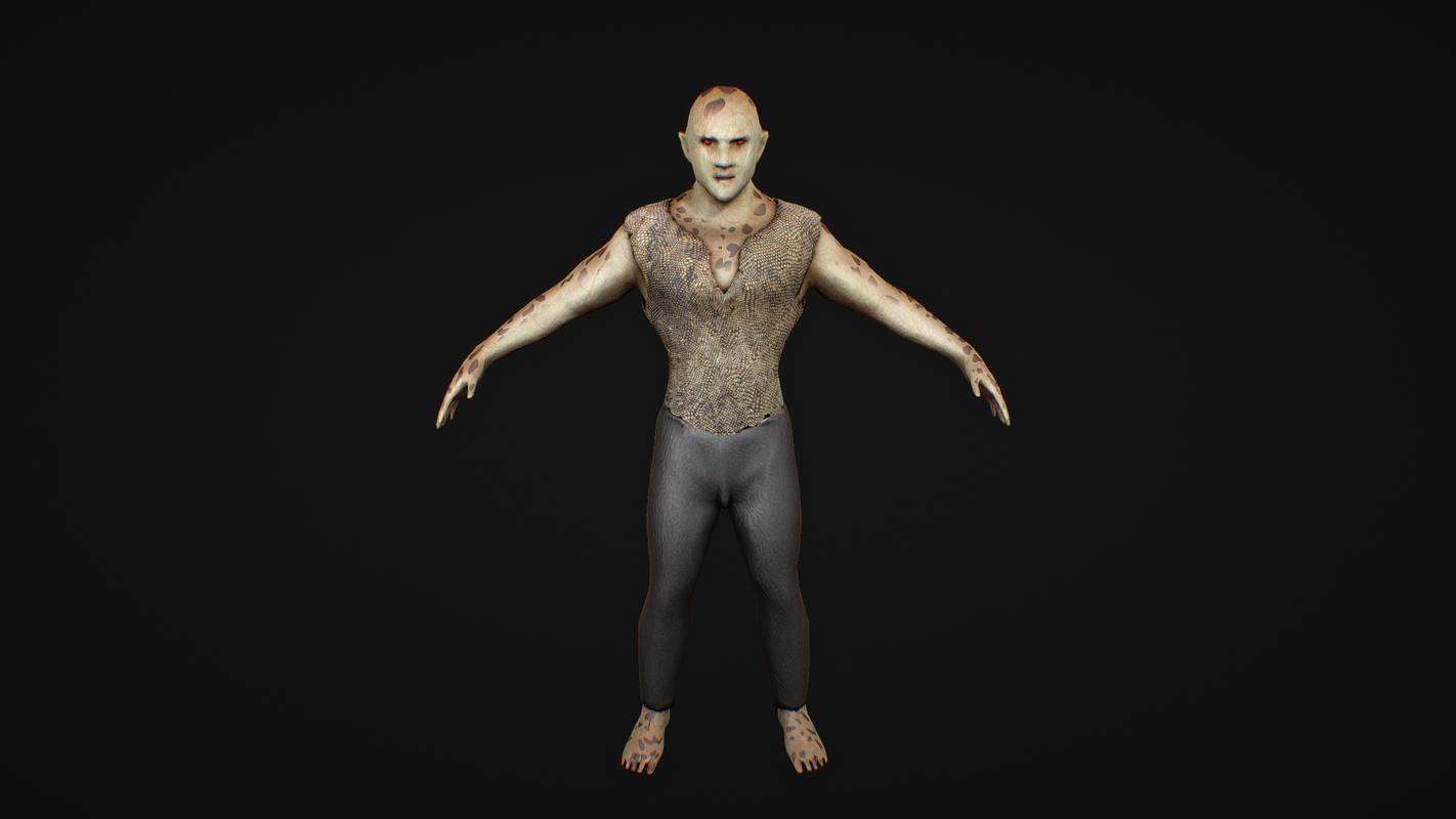 3D monster alien