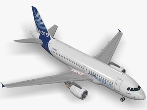 3D airbus a319-114 house livery model