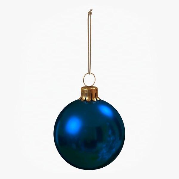 christmas ball blue glossy 3D model