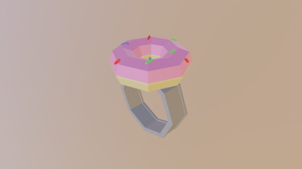 3D ring doughnut model