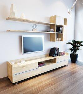 3D home living room unit