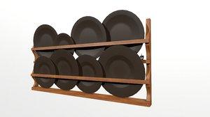 dish rack 3D model