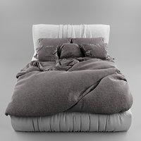 interior render bed model
