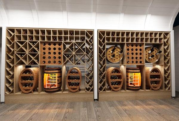 wine cabinet 3D