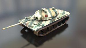 type 74 main battle tank model