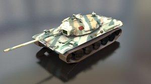 type 74 main battle tank model