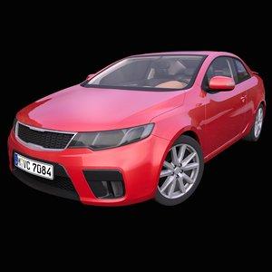 generic coupe car interior 3D model