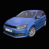 generic german hatchback interior car 3D