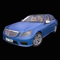 3D generic german sedan interior car