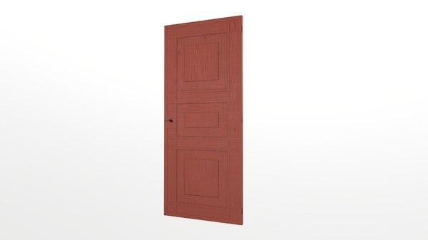 3D old wooden door